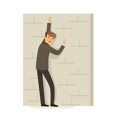 failed and stressed businessman standing and vector image
