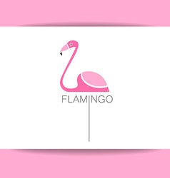 flamingo bird sign vector image