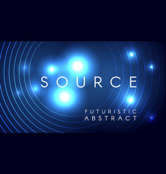 Futuristic light particles abstract design vector