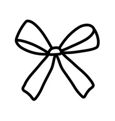 Gift bow decoration ribbon icon thick line vector