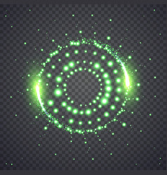 glittering star dust lights circle vector image