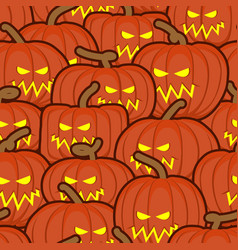 halloween background pumpkin seamless pattern vector image