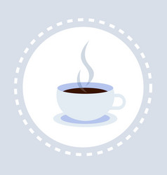 hot drink cup coffee break concept flat isolated vector image