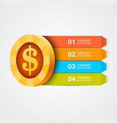 infographics coin design element vector image