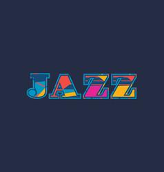 Jazz concept word art vector