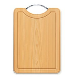 Kitchen cutting board with vector