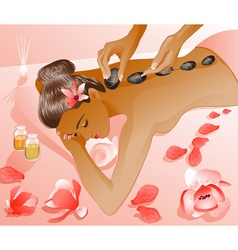 Lady Enjoying a Spa Cartoon vector image