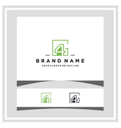 Letter g4 finance logo design concept template vector
