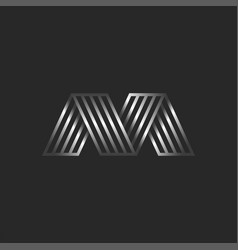letter m 3d logo creative monogram initials mv or vector image