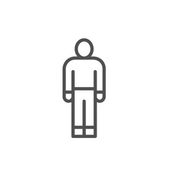 man person human employee worker line icon vector image
