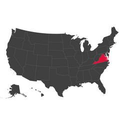 map of usa - virginia vector image
