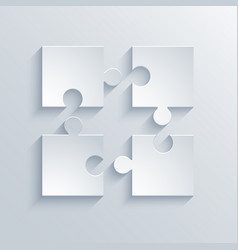 Modern puzzle icons background vector