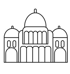 Mosque flat on white vector