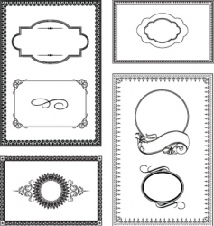 Ornate frame set vector