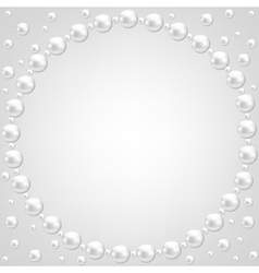 pearl frame on gray background vector image