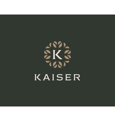 Premium monogram letter K initials logo Universal vector