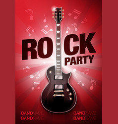 red rock festival concert party flyer or poster vector image