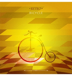 Retro bicycle on a grungy background vector image