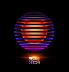 Retro vintage design vector