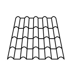 roof made of tiles metal tile terracotta element vector image