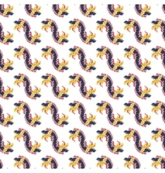 Seamless pattern with dragons vector image