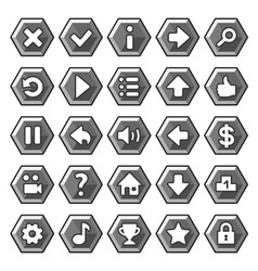 Stone game buttons vector