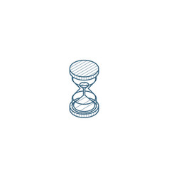 Timer sand hourglass glass clock isometric icon vector