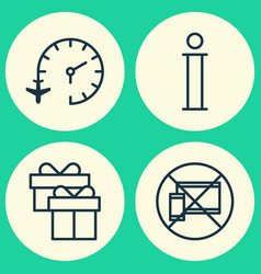 Traveling icons set collection of travel clock vector