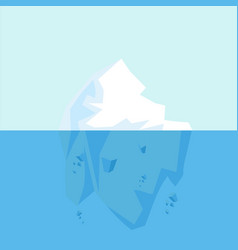 underwater view of big arctic iceberg vector image