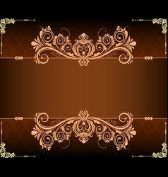 Vintage border and background landscape vector