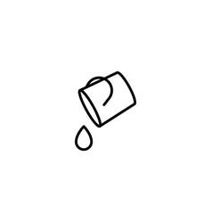 water bucket icon vector image