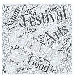 aspen nightlife us comedy arts festival Word Cloud vector image