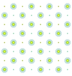 Chamomile seamless pattern Simple floral design vector image vector image