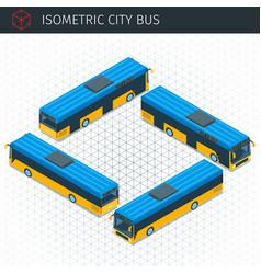 isometric city bus vector image