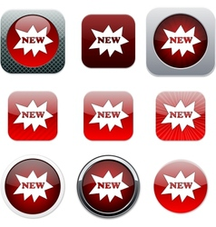 New red app icons vector image vector image