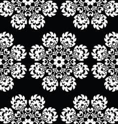 Seamless floral polish folk art pattern vector