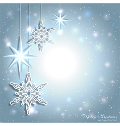 Sparkling Christmas Star Snowflake Background vector image