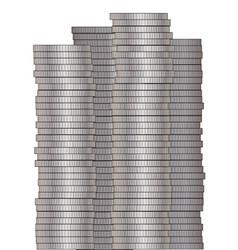 Pieces of silver vector