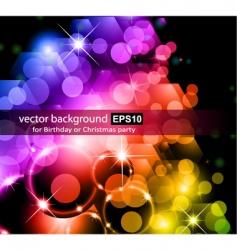 rainbow lights background vector image vector image