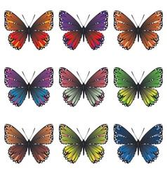 Butterflies Set2 vector image vector image