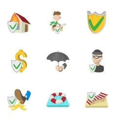 Confidence icons set cartoon style vector image vector image