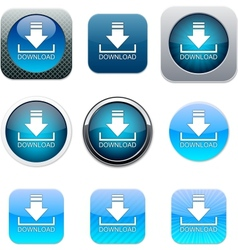 Download blue app icons vector image vector image