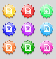File document icon sign symbol on nine wavy vector image vector image