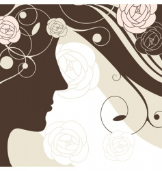 girl background vector image