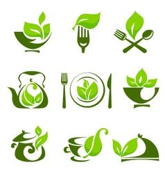 Organic food design elements vector image vector image