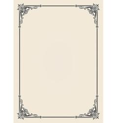ornamental frame vintage vector image