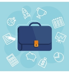 suitcases with items icon vector image vector image