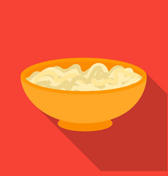 udon icon in flate style isolated on white vector image vector image