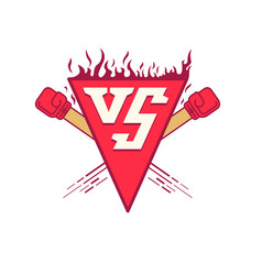 vs logo symbol versus fight vector image vector image