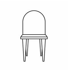 Chair icon in outline style vector image